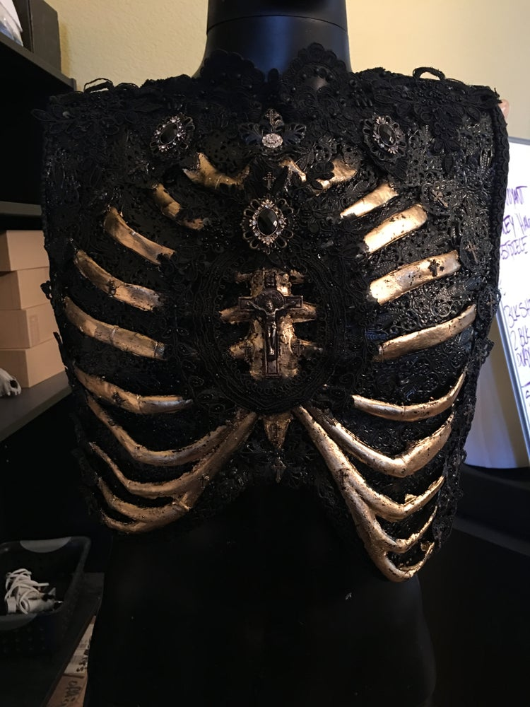 Image of GILDED SORROWS - Rib cage chest piece