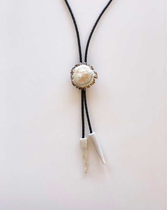 Image of Over the Moon Bolo - Turquoise Button