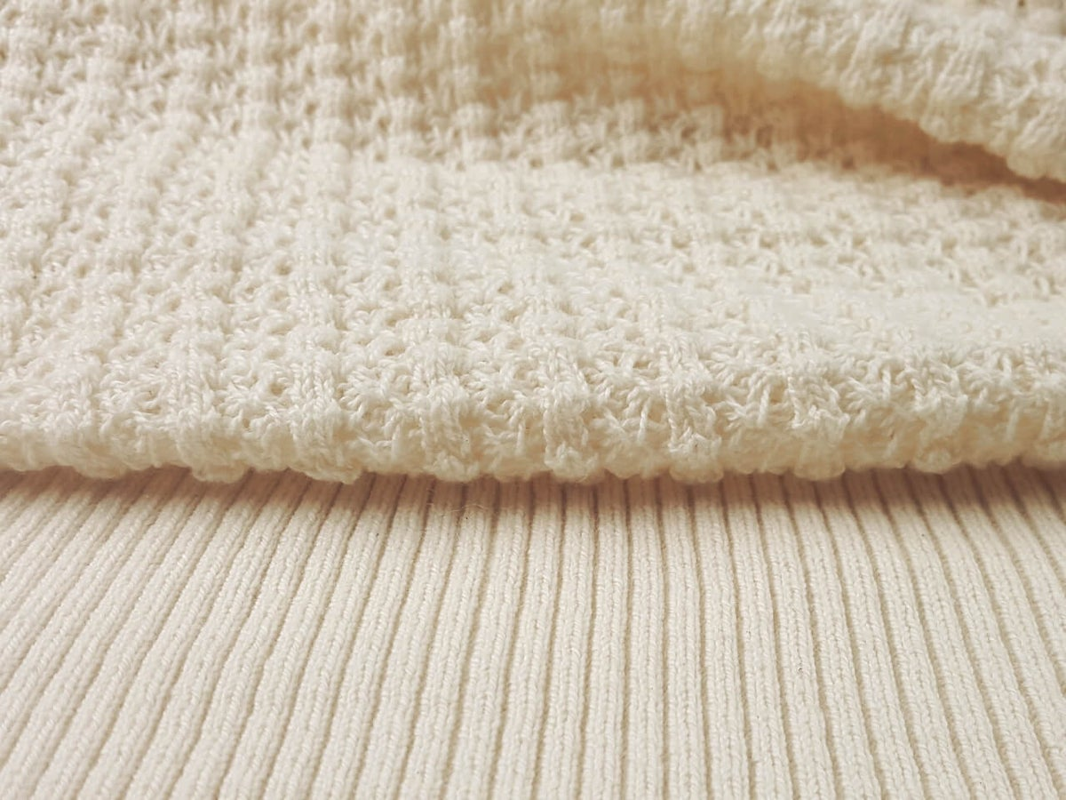 Image of Natural White Cotton - Saratoga Rib (by the half yard)