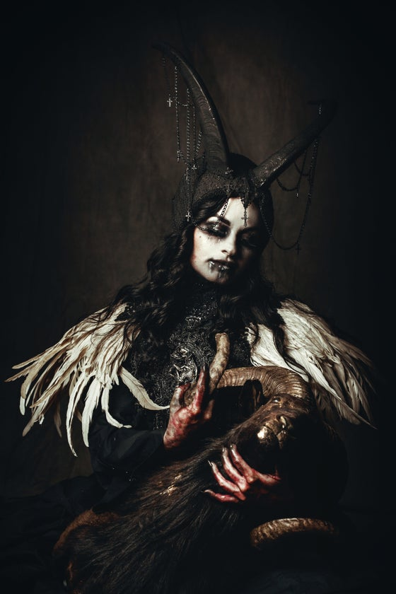 Image of DECAYING IN GALLOWS - Black goat horn headdress