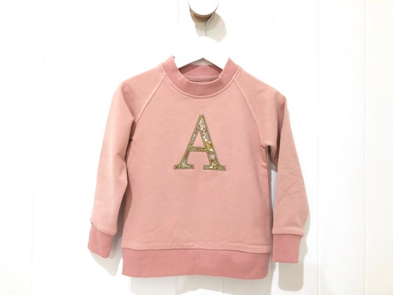 Image of Liberty Monogram Crew Neck - Blush