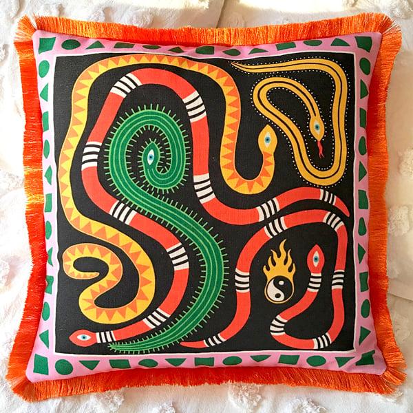 Image of Raging Pitta Throw Cushion