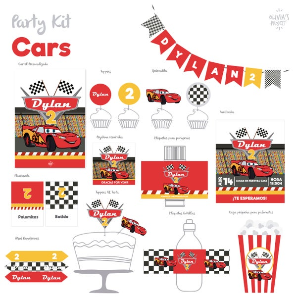 Image of Party Kit Cars Impreso