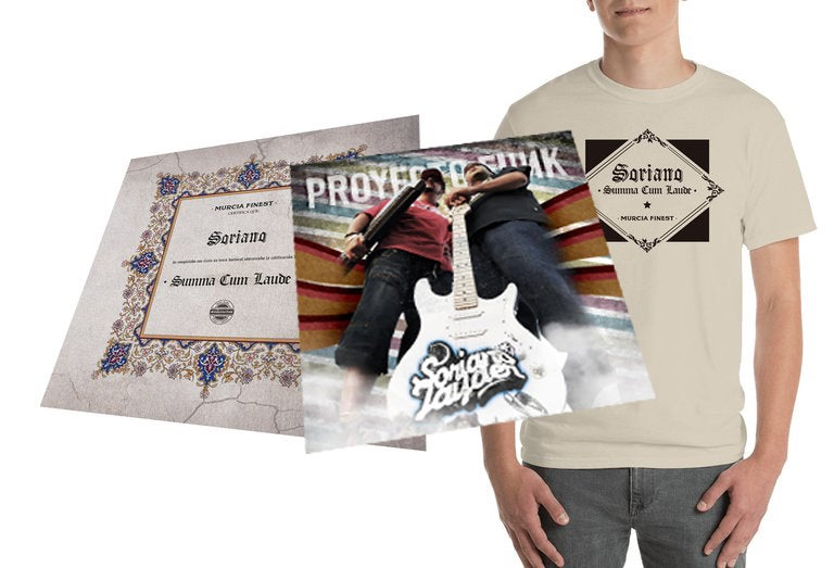 "Image of Pack CD y Camiseta ""Summa Cum Laude"" (+CD PROYECTO FUNK DE REGALO)"