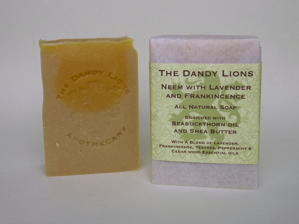 Image of Neem with Frankincense and Lavender Soap