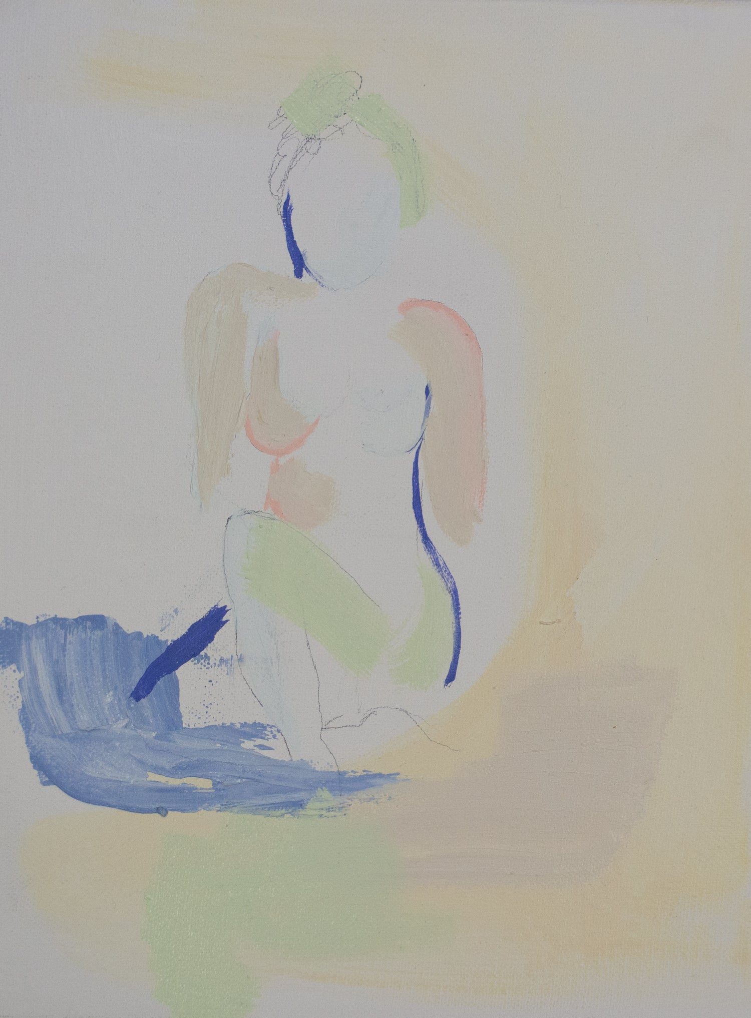 "Image of 9 x 12 figure study titled ""Uncovered"""