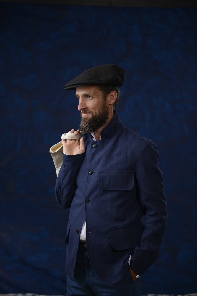 Image of VINCENT LINEN JACKET BLUE