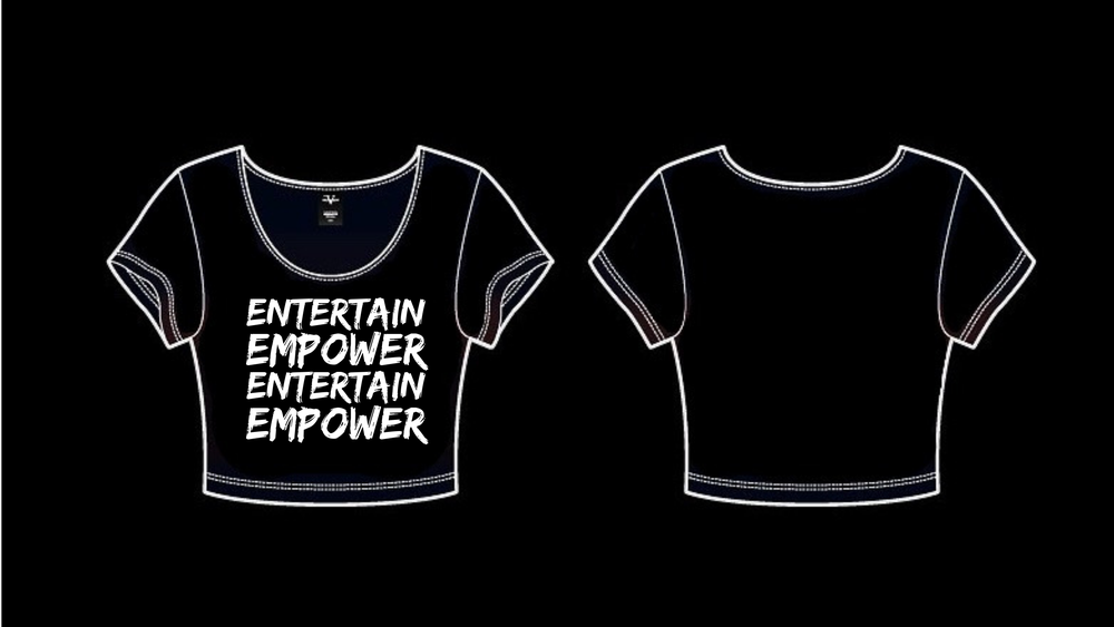 Image of ENTERTAIN EMPOWER CROP TOP