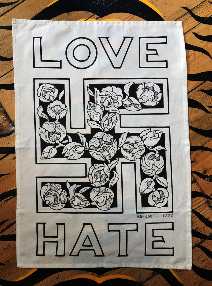 Image of LOVE/HATE Tea Towel