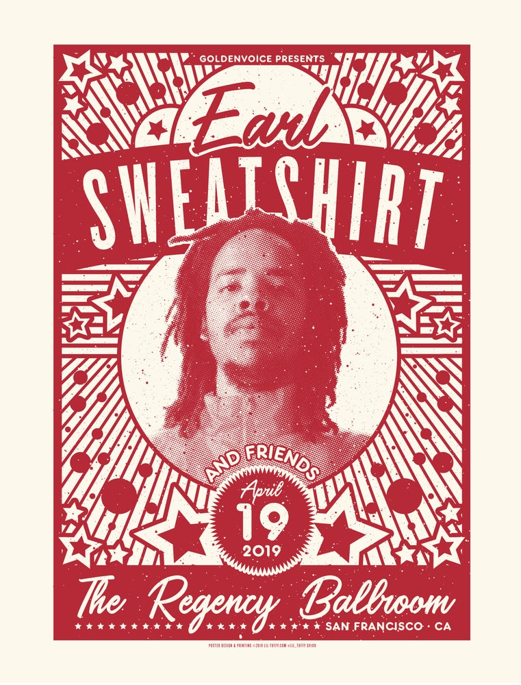 Image of Earl Sweatshirt - San Francisco 2019