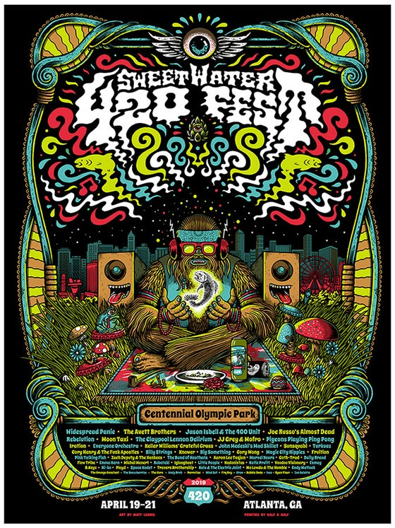 Image of Sweetwater 420 Fest 2019 @ Atlanta GA - 2019 & foil variants