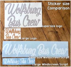 Image of WBC Supersize SCRIPT Sticker [LARGE REAR WINDOW SPLIT SCREEN - BAY WINDOW - T25]