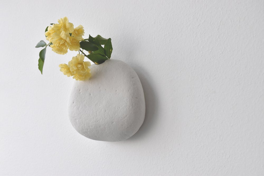 Image of TEXTURED WALL VASE