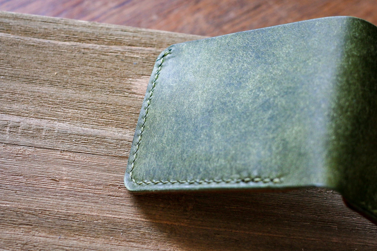 Image of Traditional Bifold in Olive Pueblo and Natural Waxed Flesh Chromexcel