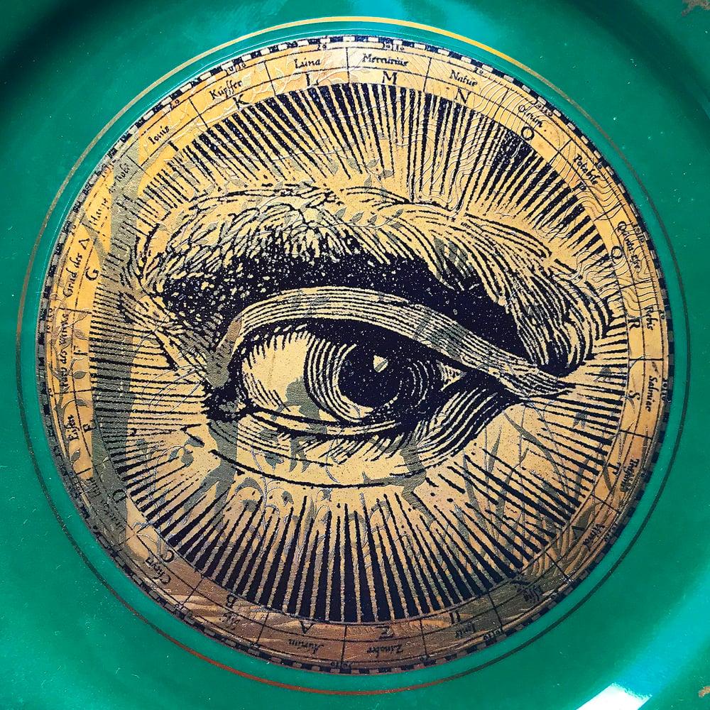 Image of Lover's eye Gold - Vintage Porcelain Plate - #0667 Unique Piece