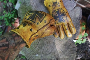 Image of HOOLIGAN SLUM custom Leather gloves