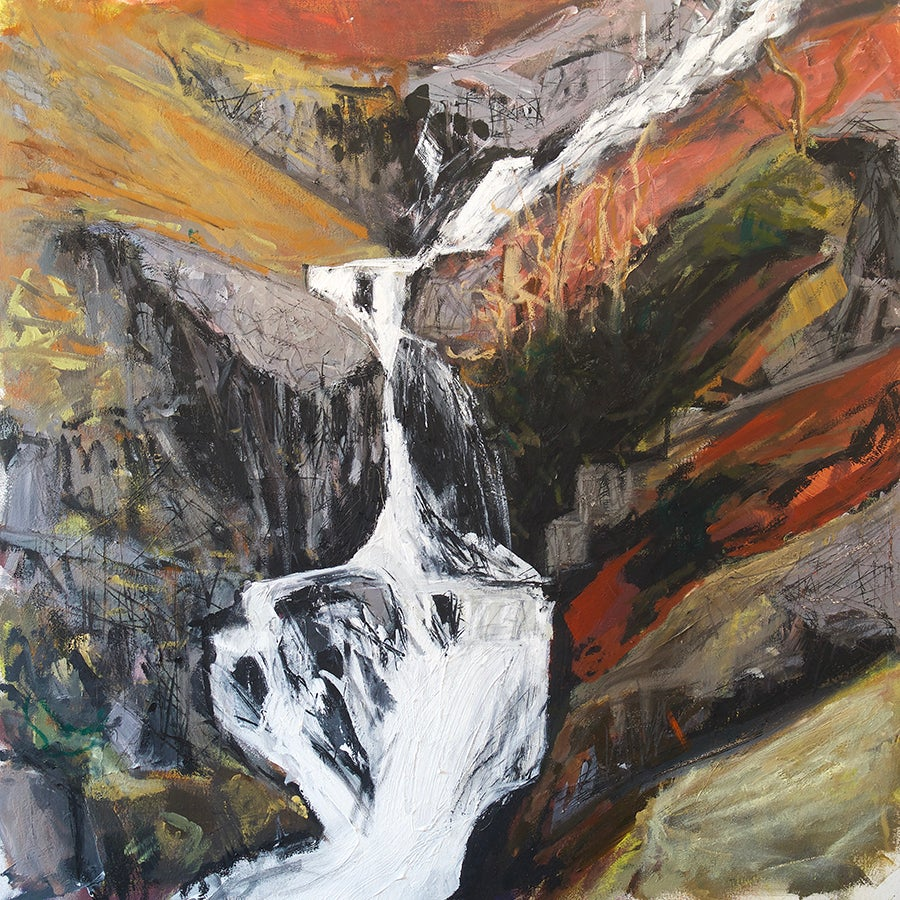 Image of Stickle Ghyll Waterfall (Original Painting)
