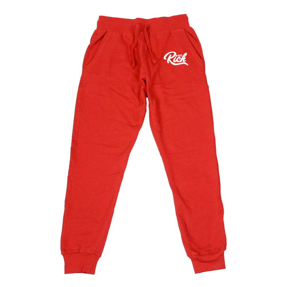 Image of Get Rich - Men's Joggers (Red)