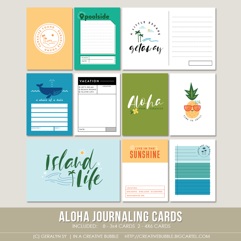 Image of Aloha Journaling Cards (Digital)