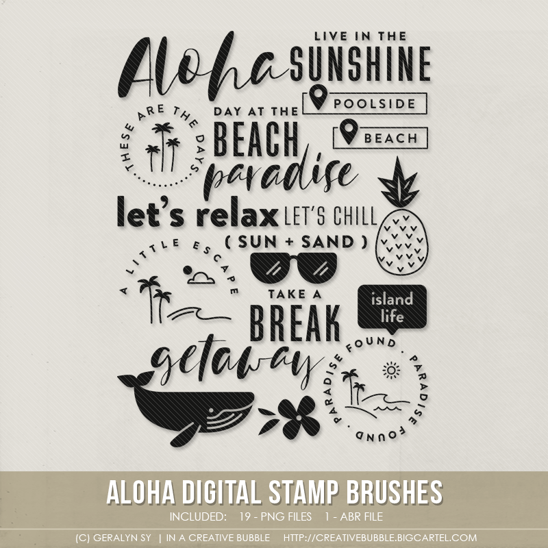 Aloha Stamp Brushes (Digital)   In a Creative Bubble