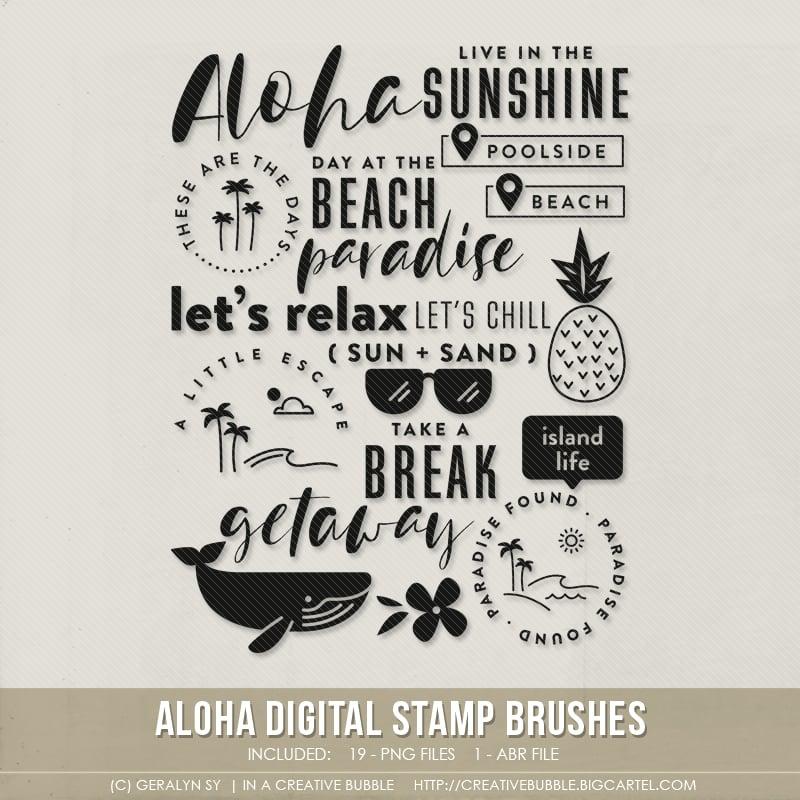Image of Aloha Stamp Brushes (Digital)