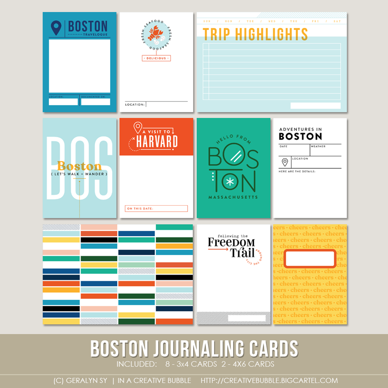 Image of Boston Journaling Cards (Digital)