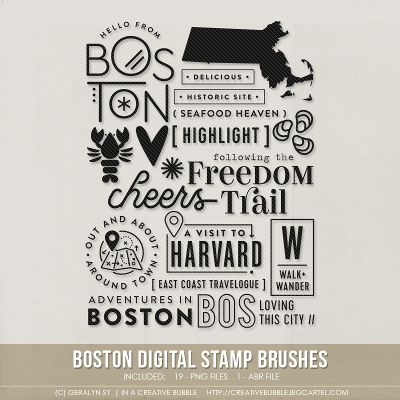 Image of Boston Stamp Brushes (Digital)