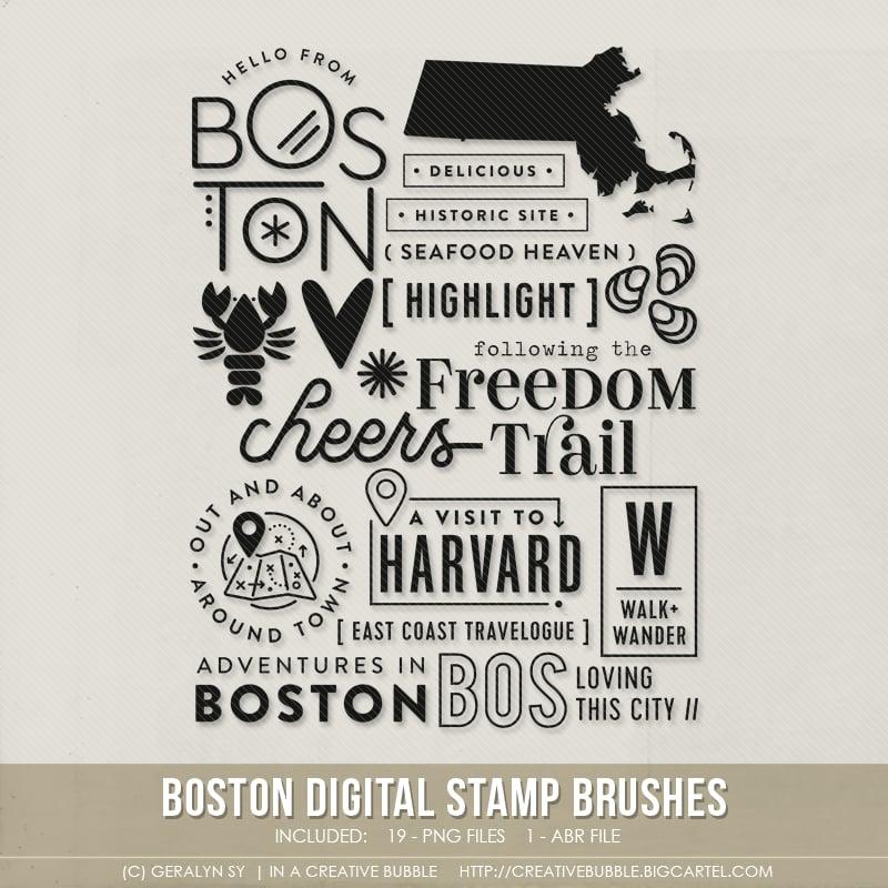 Image of Boston Stamp Brushes (Digital)