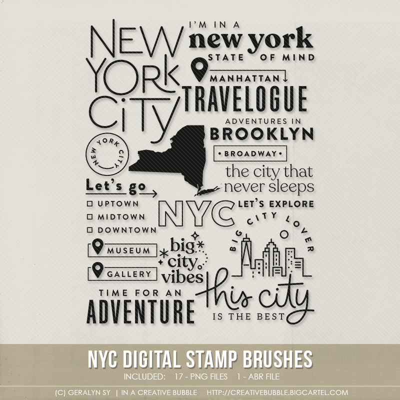 Image of NYC Stamp Brushes (Digital)