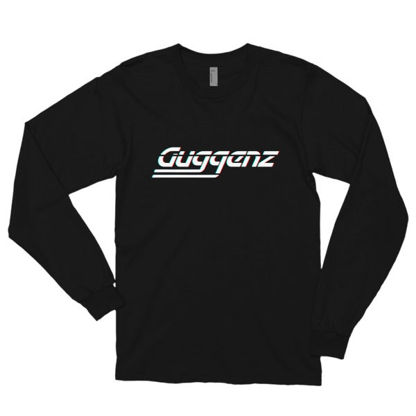 "Image of Guggenz Long Sleeve T Shirt -  ""Outrun"" (Black)"