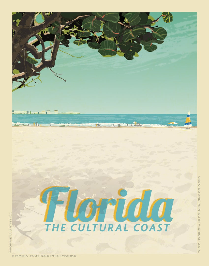 Image of Florida - The Cultural Coast 11x14 Print No. [085]