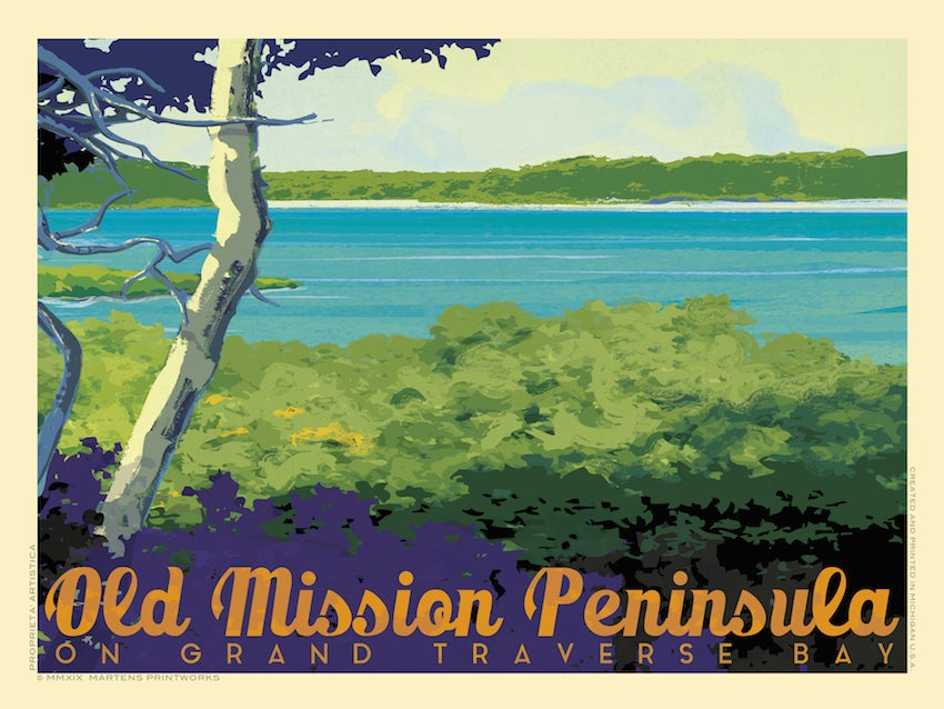 Image of Old Mission Peninsula 18x24 Print No. [083]