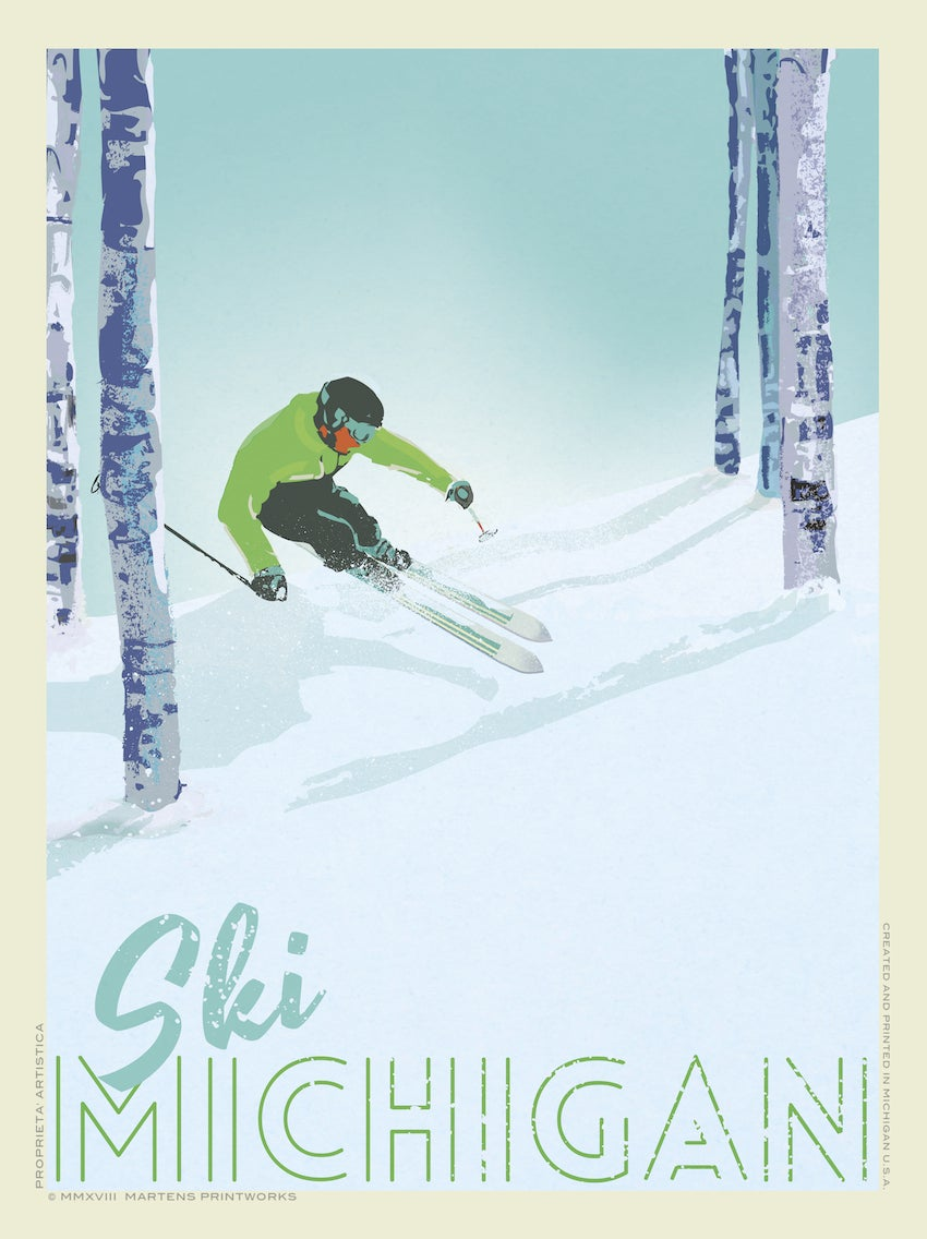 Image of Ski Michigan 18x24 Print No. [087]