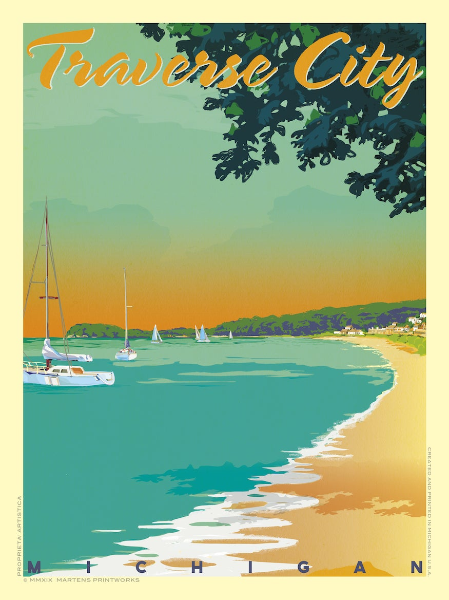 Image of Traverse City 18x24 Print No. [084]
