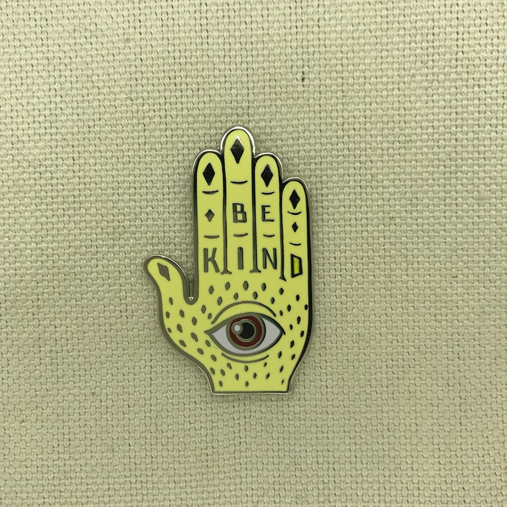"Image of Series 3 ""Be Kind- Brown Eye"" Pin"