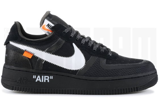 "Image of Nike AIR FORCE 1 LOW ""OFF WHITE"" BLACK"
