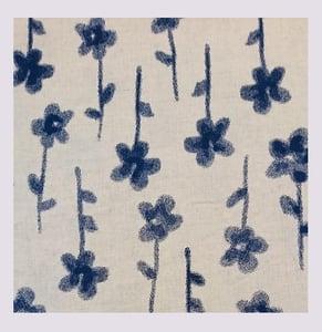 Image of Tissu: Fleurs encrées