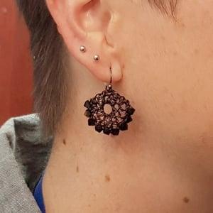 Image of HALF-MOON EARRINGS - Black