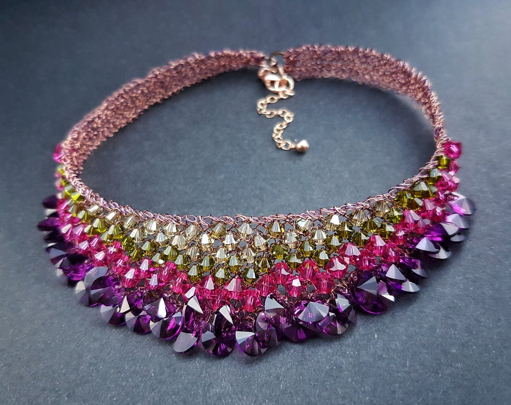 Image of CRYSTAL DROPS NECKLACE - Thistle Collection