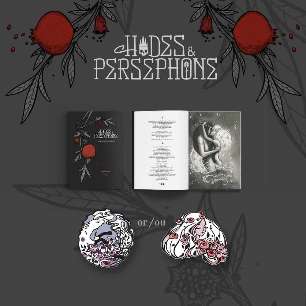 "Image of PRE-ORDER ""Hades & Persephone"" Book + Enamel Pin"