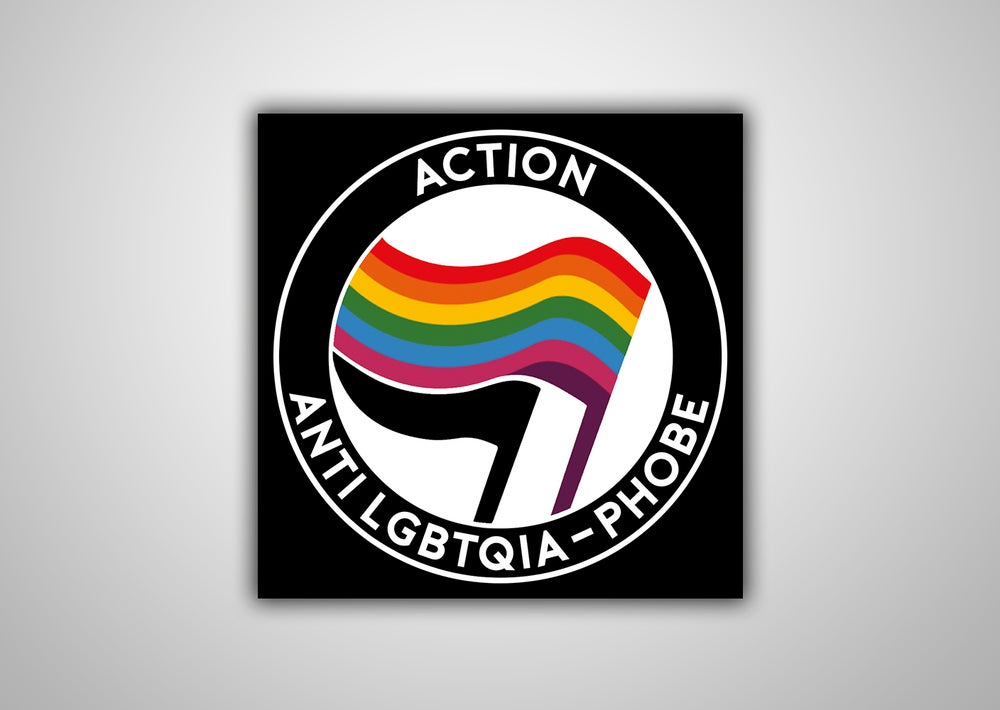 "Image of 100 Autocollants ""Action Anti LGBTQIA-PHOBE"""