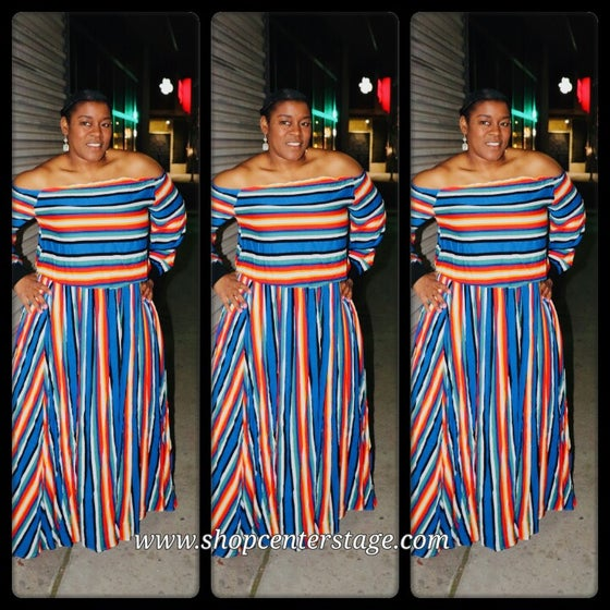 Image of Avery set in stripes