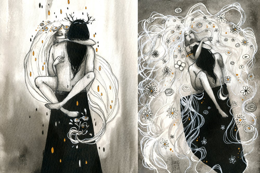 "Image of PRE-ORDER ""Hades & Persephone"" Book 5 postcards set"