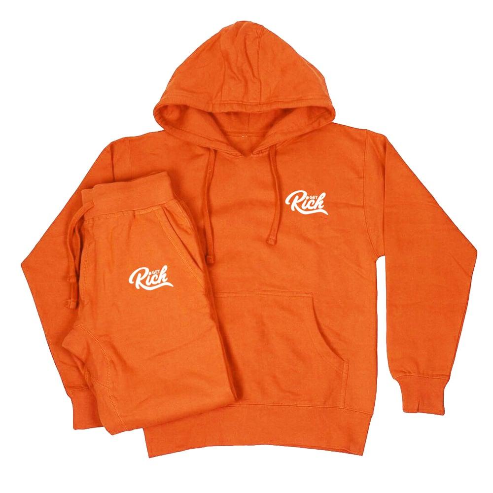 Image of Get Rich Sweatsuit Set - Orange