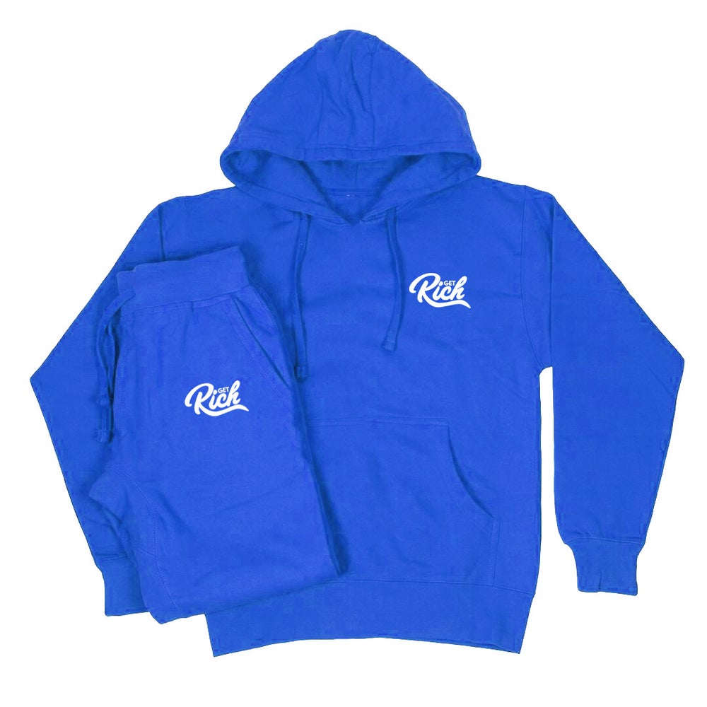 Image of Get Rich Sweatsuit Set - Royal Blue