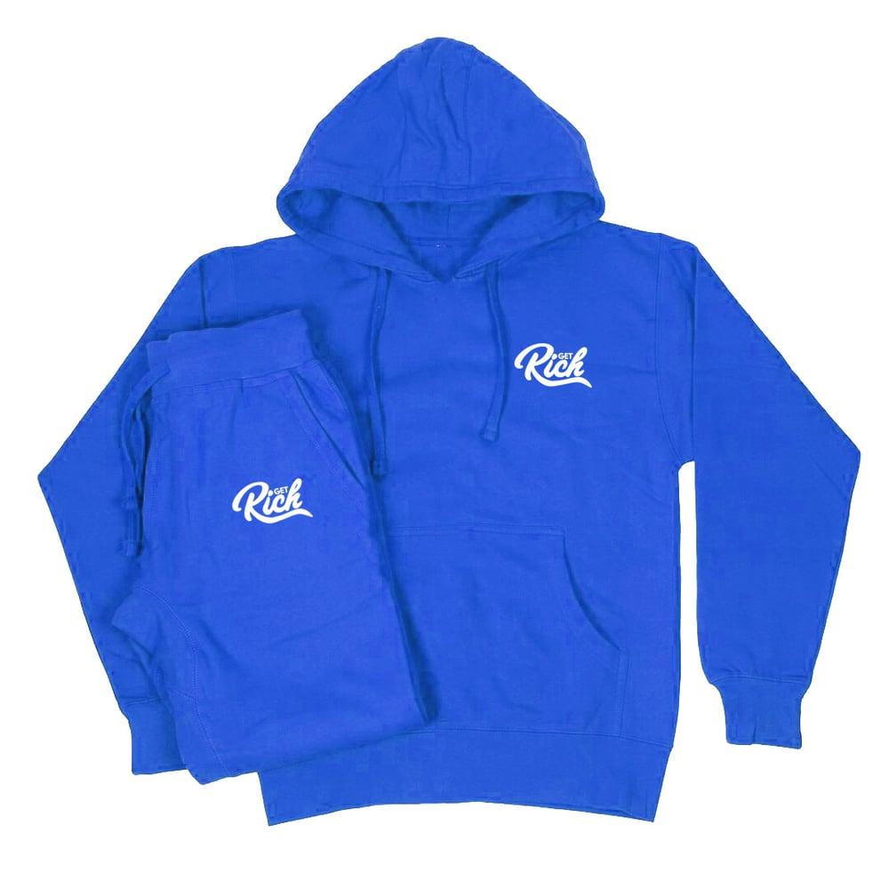 Image of Get Rich Sweatsuit Set - Royal Blue