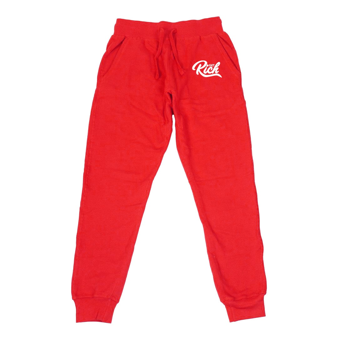 Image of Get Rich Sweatsuit Set - Red