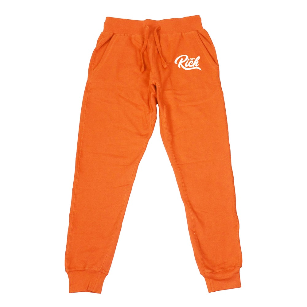 Image of Get Rich - Men's Joggers (Orange)
