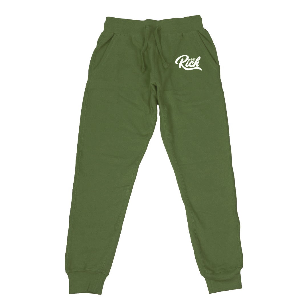 Image of Get Rich - Men's Joggers (Olive Green)