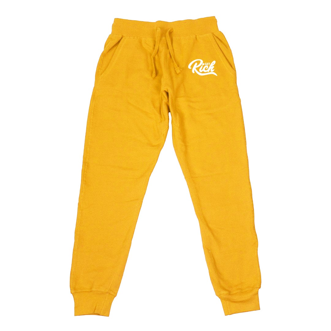 Image of Get Rich - Men's Joggers (Yellow/Gold)